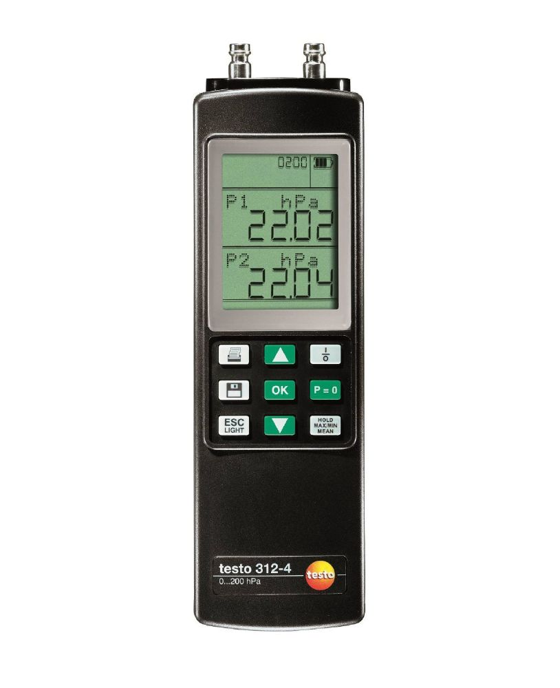 Testo 312-4 - Differential Pressure Meter up to 200 hPa